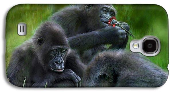 Ape Moods Galaxy S4 Case by Carol Cavalaris