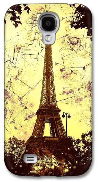 Creepy Galaxy S4 Cases - Apocalyptic Garden Party Eiffel Tower 59 Galaxy S4 Case by Marina McLain