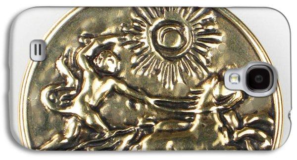 Sun Jewelry Galaxy S4 Cases - Apollo and his Chariot to the Sun - Bronze Pendant Galaxy S4 Case by Virginia Vivier -  Esprit Mystique