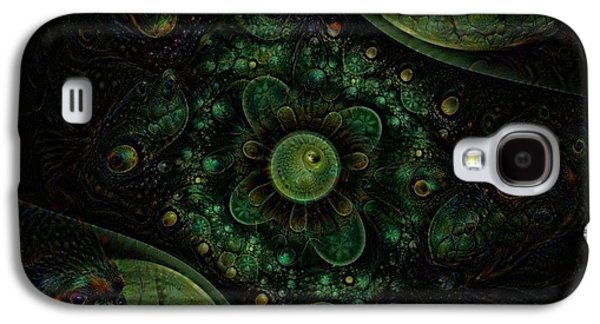 Modern Abstract Galaxy S4 Cases - Apophysis Dream Galaxy S4 Case by Nancy Pauling