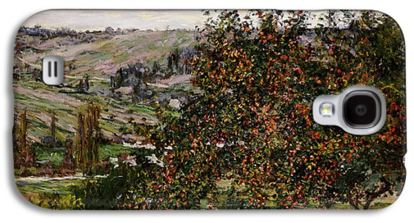 Apple Trees Near Vetheuil Galaxy S4 Case by Claude Monet