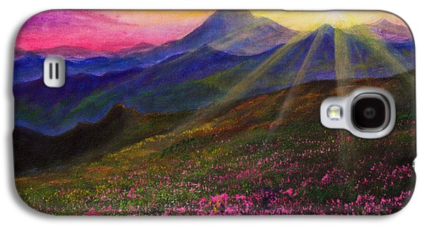 Recently Sold -  - Bob Ross Paintings Galaxy S4 Cases - April Sunset Galaxy S4 Case by C Steele