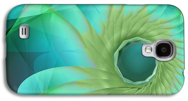 Dreamscape Galaxy S4 Cases - Aqua In Bloom Galaxy S4 Case by Mindy Sommers