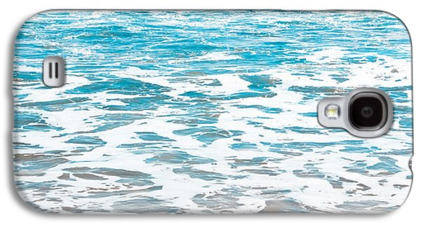 Abstracts Galaxy S4 Cases - Aqua Surf Galaxy S4 Case by Colleen Kammerer