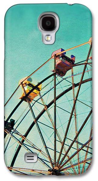 Aquamarine Dream - Ferris Wheel Art Galaxy S4 Case by Melanie Alexandra Price