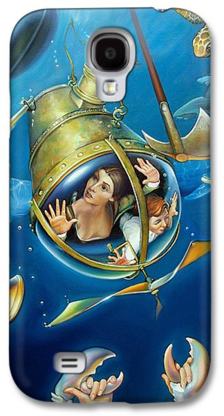 Shark Paintings Galaxy S4 Cases - AQUARIA RISING from Mask of the Ancient Mariner Galaxy S4 Case by Patrick Anthony Pierson