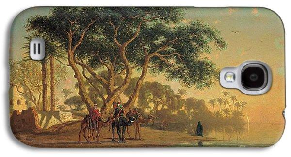 Arab Oasis Galaxy S4 Case by Narcisse Berchere
