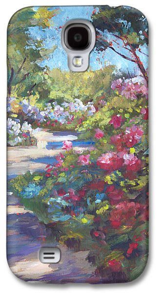 Pathway Paintings Galaxy S4 Cases - Arboretum Garden Path Galaxy S4 Case by David Lloyd Glover