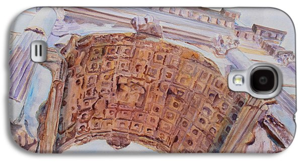 Jerusalem Paintings Galaxy S4 Cases - Arch of Titus One Galaxy S4 Case by Jenny Armitage