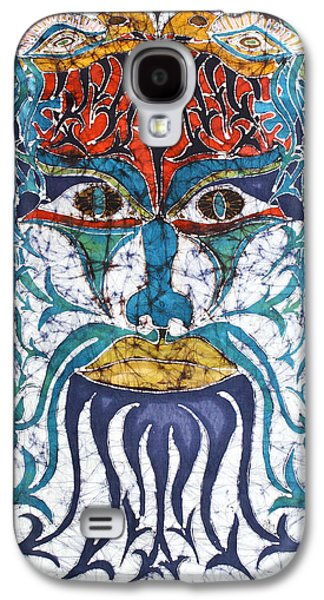 Ancient Tapestries - Textiles Galaxy S4 Cases - Archetypal Mask Galaxy S4 Case by Carol  Law Conklin