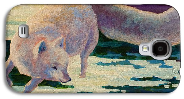 Puppies Galaxy S4 Cases - Arctic Fox Galaxy S4 Case by Marion Rose