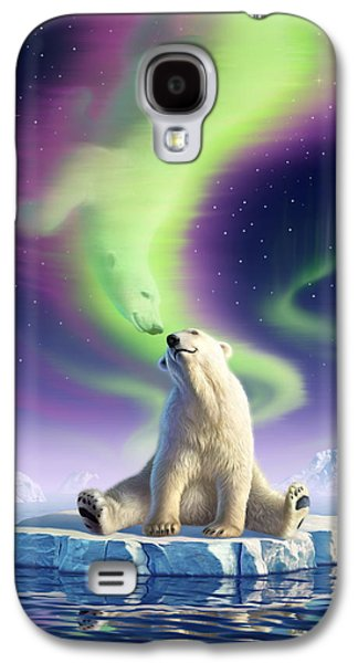 Evening Digital Galaxy S4 Cases - Arctic Kiss Galaxy S4 Case by Jerry LoFaro
