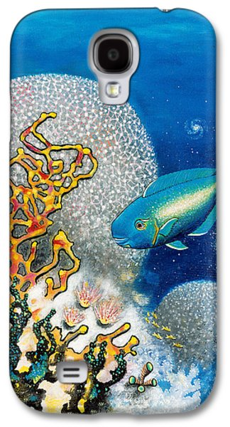 Angel Mermaids Ocean Galaxy S4 Cases - Areiti -The Little Wave Galaxy S4 Case by Lee Pantas
