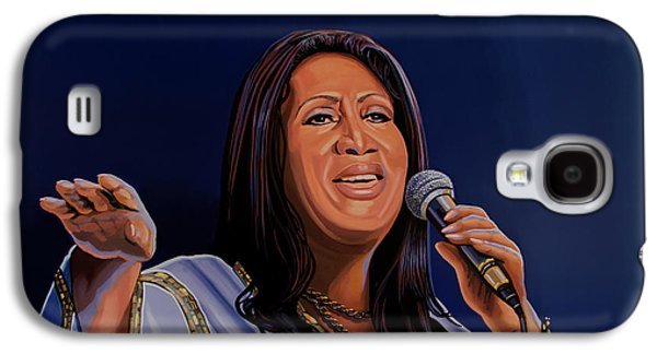 Aretha Franklin Painting Galaxy S4 Case by Paul Meijering