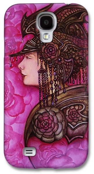 Warrior Goddess Galaxy S4 Cases - Armored Rose Galaxy S4 Case by Tamarah Phillips