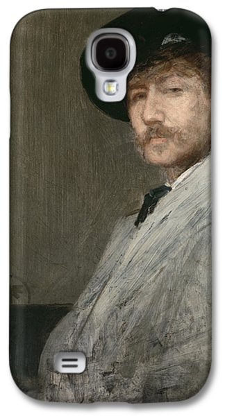 Whistler Paintings Galaxy S4 Cases - Arrangement in Grey  Portrait of the Painter Galaxy S4 Case by James Abbott McNeill Whistler