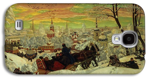 Arriving For The Holidays Galaxy S4 Case by Boris Mihajlovic Kustodiev