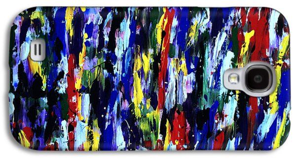 Splashy Art Galaxy S4 Cases - Art Abstract Painting Modern Color Galaxy S4 Case by Robert R Splashy Art Abstract Paintings