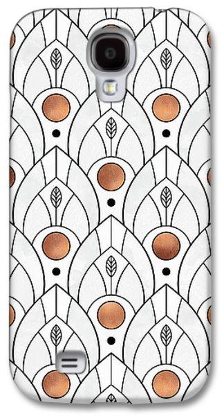 Art Deco Leaves 1 Galaxy S4 Case by Elisabeth Fredriksson