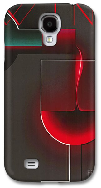 Art Deco Red Wine Galaxy S4 Case by Mindy Sommers