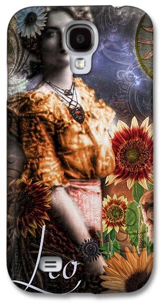 Leo Galaxy S4 Cases - Art Nouveau Zodiac Leo Galaxy S4 Case by Mindy Sommers