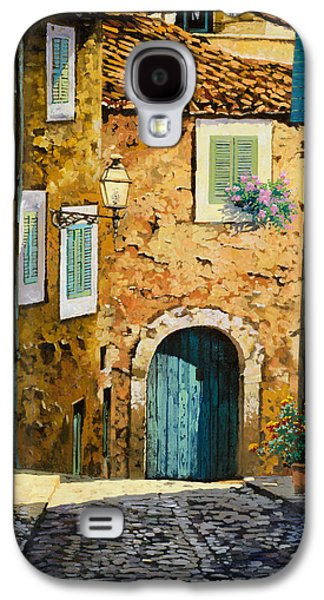 Street Paintings Galaxy S4 Cases - Arta-Mallorca Galaxy S4 Case by Guido Borelli