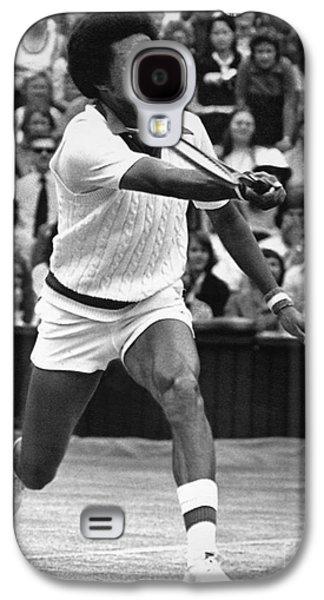 Wimbledon Galaxy S4 Cases - Arthur Ashe (1943-1993) Galaxy S4 Case by Granger