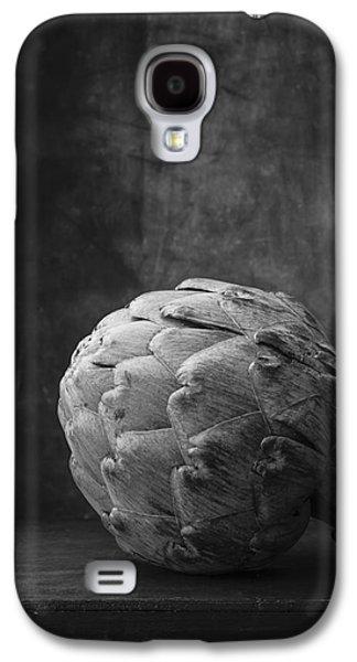 Artichoke Black And White Still Life Galaxy S4 Case by Edward Fielding