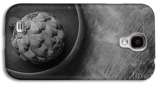 Artichoke Black And White Still Life Three Galaxy S4 Case by Edward Fielding