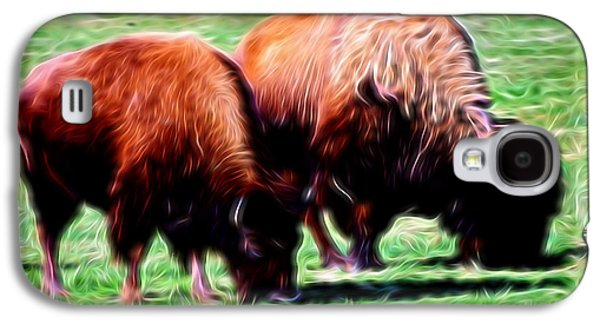 Bison Digital Galaxy S4 Cases - Artistic American Bison Galaxy S4 Case by Linda Phelps