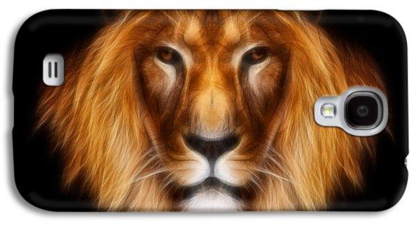 Aimelle Prints Galaxy S4 Cases - Artistic Lion Galaxy S4 Case by Aimelle