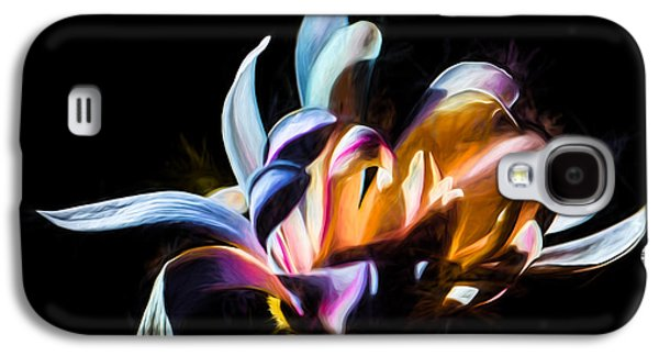 Artistic Paiterly Colored Flower Galaxy S4 Case by Leif Sohlman