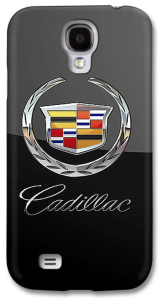Cadillac - 3d Badge On Black Galaxy S4 Case by Serge Averbukh