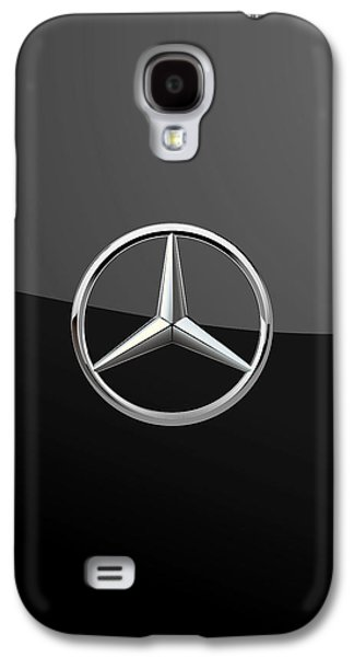 Mercedes-benz - 3d Badge On Black Galaxy S4 Case by Serge Averbukh