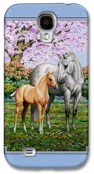 Spring's Gift - Mare And Foal Galaxy S4 Case by Crista Forest