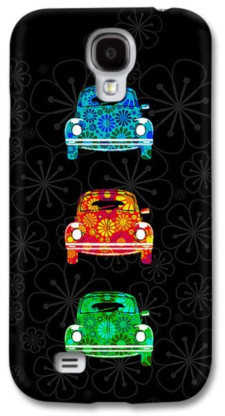 60s Photographs Galaxy S4 Cases - VW Flower Power Galaxy S4 Case by Mark Rogan