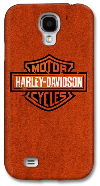 Vintage Photographs Galaxy S4 Cases - Harley Davidson Motor Cycles Galaxy S4 Case by Mark Rogan