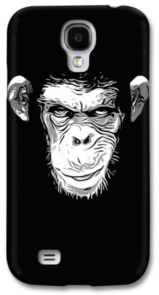 Face Digital Galaxy S4 Cases - Evil Monkey Galaxy S4 Case by Nicklas Gustafsson