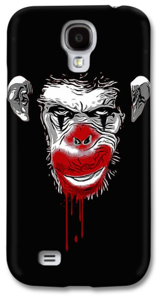 Face Digital Galaxy S4 Cases - Evil Monkey Clown Galaxy S4 Case by Nicklas Gustafsson