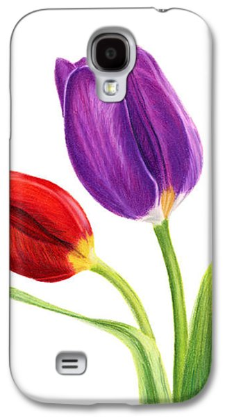 Tulip Trio Galaxy S4 Case by Sarah Batalka