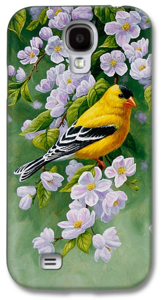 American Goldfinch Spring Galaxy S4 Case by Crista Forest