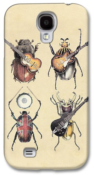 Rocks Drawings Galaxy S4 Cases - Meet the Beetles Galaxy S4 Case by Eric Fan