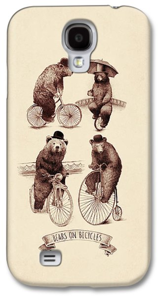 Bears On Bicycles Galaxy S4 Case by Eric Fan