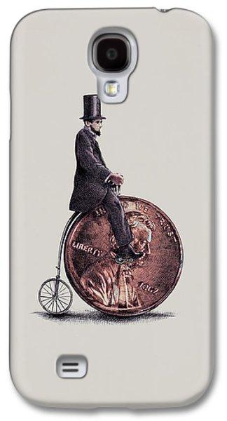 Penny Farthing Galaxy S4 Case by Eric Fan