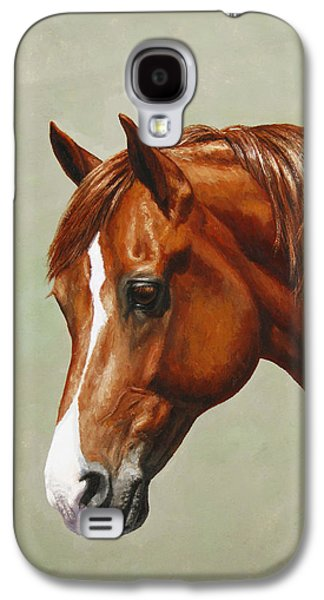 Chestnut Horse Galaxy S4 Cases - Morgan Horse - Flame - Mirrored Galaxy S4 Case by Crista Forest