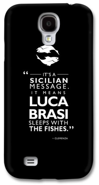The Godfather Galaxy S4 Cases - Sleeps With The Fishes Galaxy S4 Case by Mark Rogan