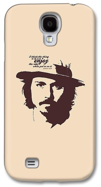 Johnny Depp Minimalist Poster Galaxy S4 Case by Lab No 4 - The Quotography Department
