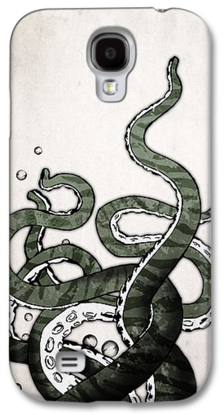 Digital Drawings Galaxy S4 Cases - Octopus Tentacles Galaxy S4 Case by Nicklas Gustafsson