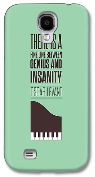 Oscar Levant Inspirational Typography Quotes Poster Galaxy S4 Case by Lab No 4 - The Quotography Department