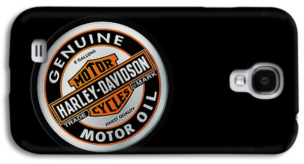 Harley Davidson Galaxy S4 Cases - Harley-Davidson Motor Oil Phone Case Galaxy S4 Case by Mark Rogan
